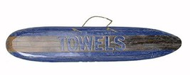 New Design Hand Carved Towels Surfboard Towels Beach Surfboard Wooden Wall Hangi - $29.64