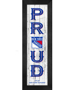 """New York Rangers """"Proud and Loyal"""" - 8 x 24  Wood-Textured Look Framed P... - $39.95"""