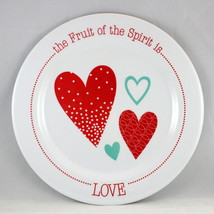 """Love"" Kids Plate Brand NEW The Fruit Of The Spirit BPA-Free & Non-Break... - $12.66"