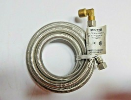 """Dishwasher MK472B Stainless Steel Braided Connector 3/8"""" Pack of 2 New image 1"""
