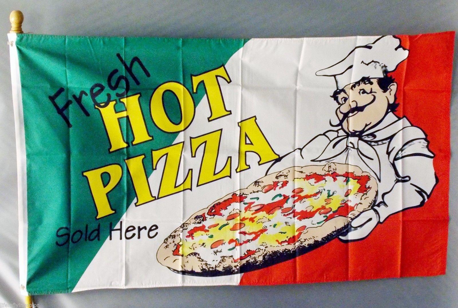 FRESH HOT PIZZA 3X5' FLAG NEW 3'X5' ITALY ITALIAN BIG