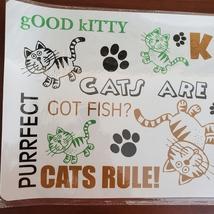"""Cat Food Mat, Litter Box Mat, Pet Mat, Plastic, 20""""x12"""", Meow Kitty image 5"""