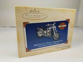 Hallmark 2000 Ornament Harley Davidson Softail Deuce Motorcycle Milestones image 6