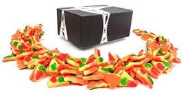Vidal Gummi Pizza Slices Candy, 2.2 lb Bag in a BlackTie Box