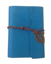 Lian LifeStyle Leather Cover Loose Leaf Blank Notebook Journal Diary (Blue) - $6.92