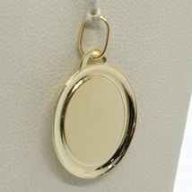18K YELLOW GOLD MEDAL PENDANT, WITH VIRGIN MARY IN PRAYER, MADONNA, LENGTH 0.94 image 5