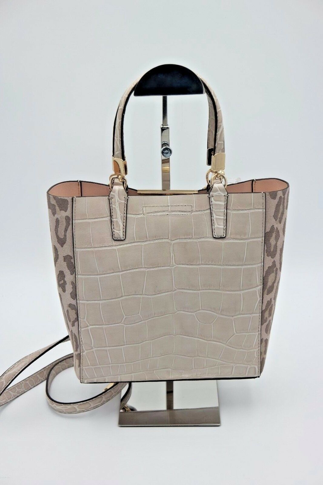 Coach Madison Ocelot Croc Leather Bonded Mini Tote Crossbody Bag New 28301