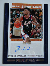 2019-20 Hoops Tyrone Wallace TimberwolvesGreat SIGnificance Auto Basketb... - $3.99