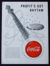 "Mega Rare 1950 Coke COCA-COLA Ad! 9"" X 12"" Promotional Advertisement Music Theme - $24.11"