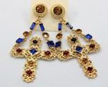 Ewely women baroque drop earrings cross gold color dangle earrings for women patry thumb155 crop