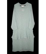 Vintage Angelheart Designs Flax M Dress + Tunic Top Sheer Crepe Rayon Fl... - $89.99