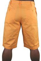 Hawke & Dumar Tab Detail Twill Rustic Orange Walk Summer Shorts HD1250503 NWT image 6