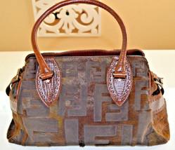 Brand New!100% Authentic Fendi Horse Hair Monogram Leather Handbag - $1,448.00