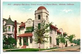 Adelphi Club House Alameda California 1910c postcard - $6.39