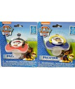2x Lot 2 New PAW PATROL PACIFIER + COVER MARSHALL & CHASE Nickelodeon re... - $10.78
