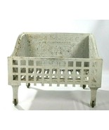 Antique Ornate White Cast Iron Fireplace Wood Or Coal Box Grate Insert F... - $668.25