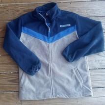 Boys Youth L 14/16 Navy Royal Blue NEW BALANCE Fleece Zip JACKET COAT  - $21.78