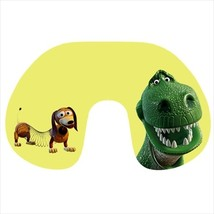 Travel neck pillow inflatable slinky dog t-rex - $20.00