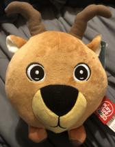 """NWT PlayTive Junior Round Ibex Head Plush Toy 7"""" Diameter - $9.89"""