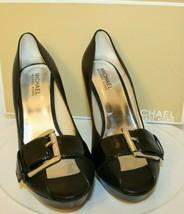 Michael Michael Kors Women's Black Allister Open Toe Pumps Shoes sz 7.5 buckle - $69.00