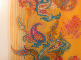 Paisley, Lines, Leopard Print Summer Sheer Fabric Multicolor Scarf, 6 colors image 13