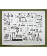 PHYSICS Apparatus Liquids Evaporation Cooling etc - 1870s Print Engraving - $17.28