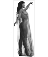Bettie Page Life Size Standup Standee 25 x 68.5 inches Life-Sized Sheer ... - $49.95