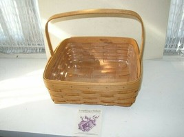 """Beautiful, Signed, Longaberger 12"""" x 12""""  Basket with Liner and Pamphlet - $71.20"""