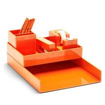 Poppin Desk Collection All Set 12 Piece Orange Work Happy Desk Organizer - €23,62 EUR