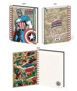 Captain America Retro Design Marvel Comic Lined Spiral Journal Notebook ... - $13.85