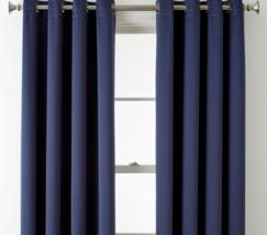 (1) JCPenney Home Kathryn MOOD INDIGO BLUE Room-Darkening Grommet Curtain 50X108 - $78.39