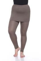 Plus Size Skirted Leggings - Olive - $20.99