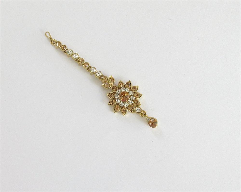Wedding Gold White Crystal Tikka Indian And 32 Similar Items