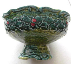 Vintage Napcoware Hollyday Christmas Ceramic Collectible Candy Dish X-7276 - $35.00