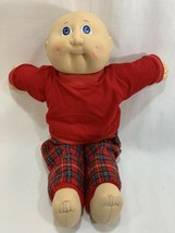 Vtg 1985 Coleco Cabbage Patch Kids Baby Doll Bald No Hair w/Outfit #2 HM - $12.86