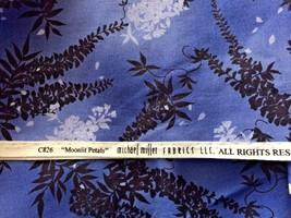 "Michael Miller Fabric Moonlit Petals 4 Yds x 44"" W Blue Black Hyacinth F... - $33.81"