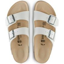 Birkenstock Women Arizona Birko Flor White Straps Narrow Fashion Sandals 0051733 - $122.99