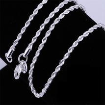 Hot sale Retail Wholesale silver Necklace Women Man necklace 2mm16,18,20... - $2.99