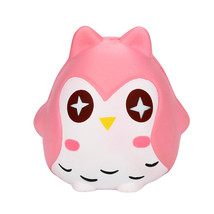 Pink Cute Squeeze Toy Jumbo Stress Reliever Soft Owl Doll Scented Slow R... - $10.05