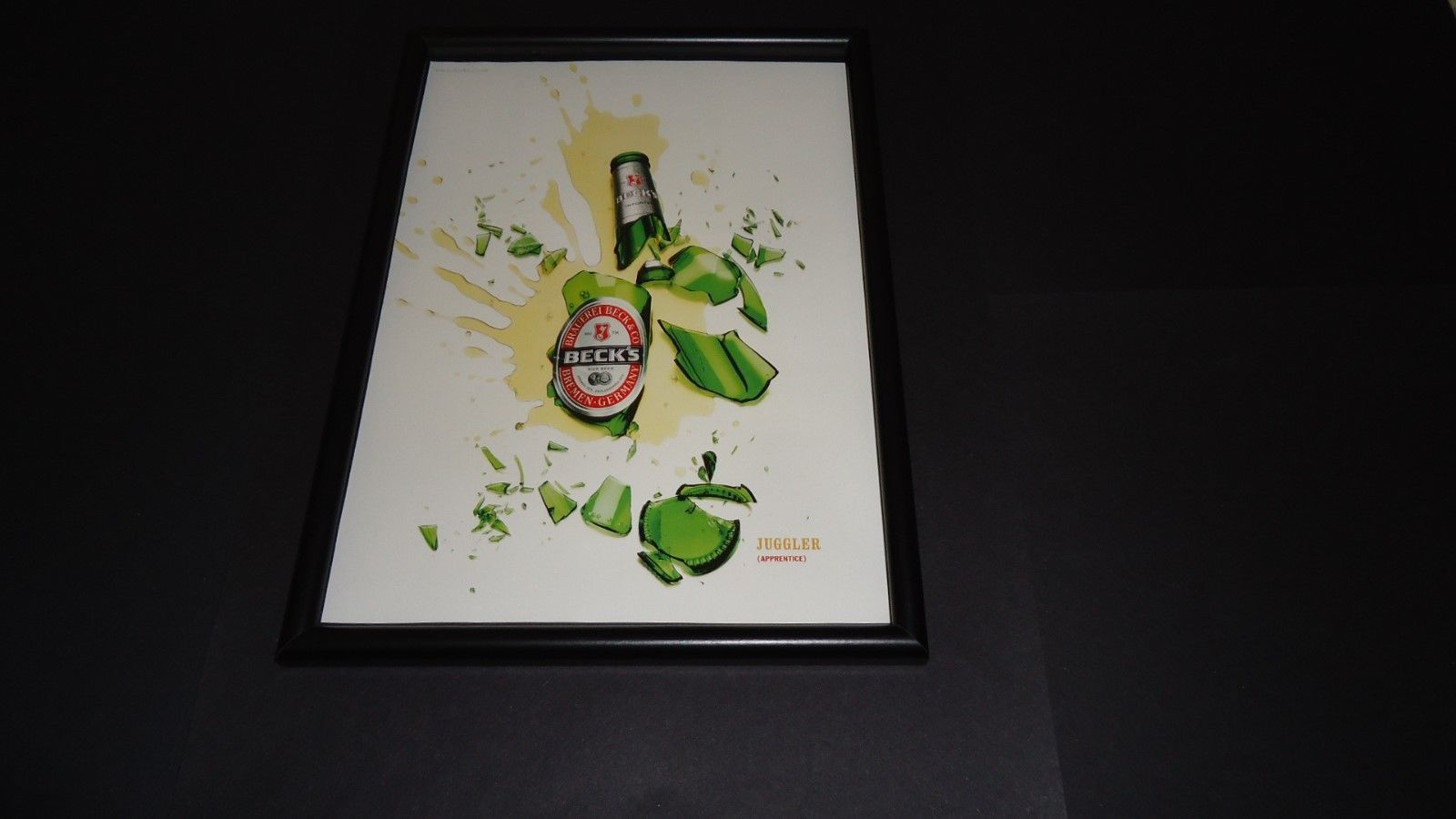 Primary image for Beck's Beer Juggler(Apprentice)-2002 Original advert framed