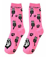 Genuine Kit Cat Klock Casual Funky Women's PINK Socks - $12.95