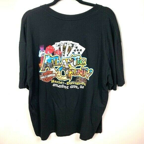 Primary image for Harley Davidson shirt mens 2xl Atlantic City NJ Black Short sleeve