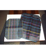 Vintage 1980's Mesh Material Black with Strips 6-Piece Table MATS - Unused - $19.99