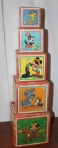 Vintage Disney Stacking Blocks Paper Litho - $23.38