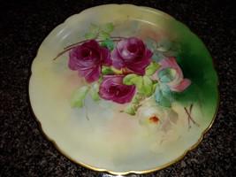 Antique J P L JEAN POUYAT LIMOGES Pickard FRANCE Floral PLATE - ARTIST S... - $110.00