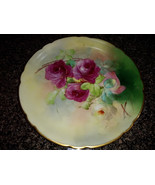 Antique J P L JEAN POUYAT LIMOGES Pickard FRANCE Floral PLATE - ARTIST S... - $55.00