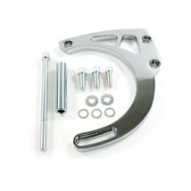 A-Team Performance SB Long Water Pump Mid-Mount Alternator Bracket, Chrome