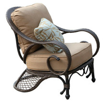 Spring Summer Club Chair Outdoor Patio Furniture Antique Bronze Cast Alu... - $741.51