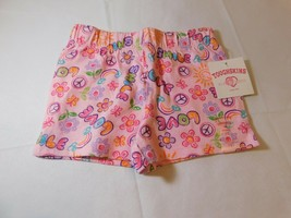 Toughskins Girls Youth Cotton Shorts Pink Love Smile 3T Toddler 30-33 lb... - $24.74