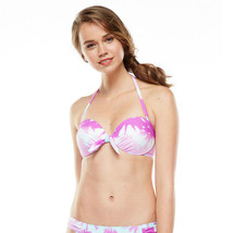 Candies Swim 2 Pcs Bikini Underwire Push-Up Fushia Blue Top Scoop Bottom JR - $19.99